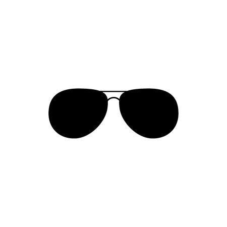 Lunettes de soleil mode noir isolé Clipart vectoriel. Silhouette d'accessoire de mode. Conception de découpe laser. Modèle pour la mise en page ou le logo du salon de coiffure