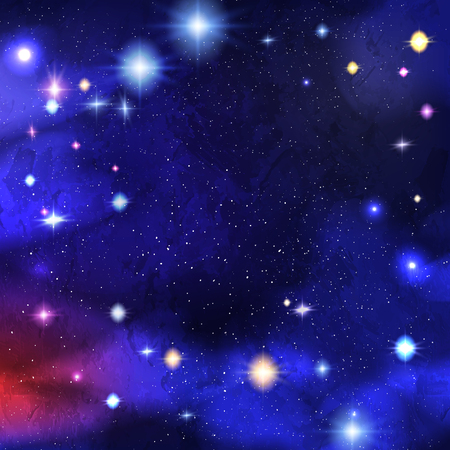 Solar system with stars and comets with tails. Astronomy and cosmos, celestial objects, astrology and universe, planets