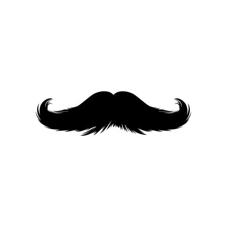 Schnurrbärte-Aufkleber. Schwarze isolierte Silhouetten für Cinco de Mayo Paper Cutting Design. Schnurrbart für Barbershop oder Schnurrbart-Karneval
