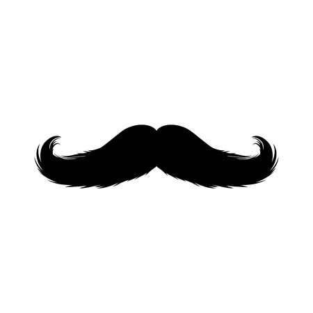 Moustaches Sticker. Black Isolated Silhouettes for Cinco de Mayo Paper Cutting Design. Mustache for barbershop or Mustache Carnival
