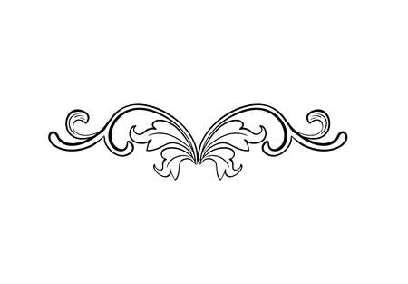 Black Hand Drawn Isolated Greek, Byzantine and Roman vintage floral headpiece. Decoration or weave plant ornament in baroque or victorian style. Royal adornment with leaf, luxury vignet element.