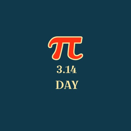 Pi Day Typography Poster Design, Vector Illustration. Science. Ilustração