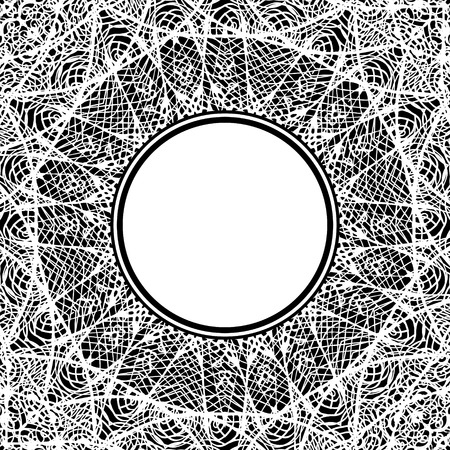 Sztuka. Koronkowa Mandala. Etniczny element dekoracyjny. Ręcznie rysowane tło. Motywy islamu, arabskie, indyjskie, osmańskie. Styl boho.