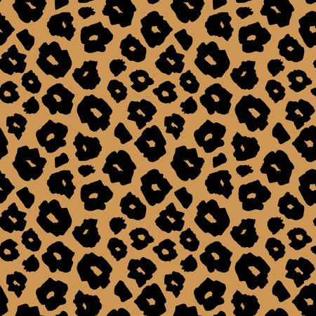 Safari beige pattern background, jaguar or cheetah panther animal skin print, vector seamless design. African safari leopard animal fur pattern, modern decoration