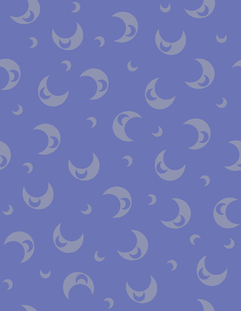 moons: Simple blue crescent moons seamless vector pattern.