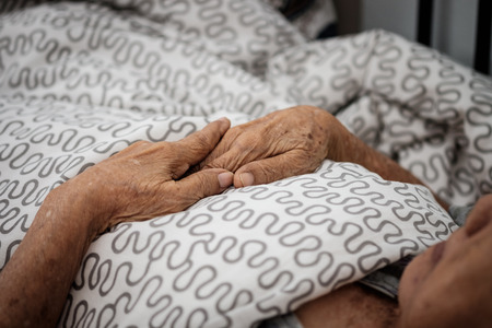 Hands of an elderly woman. Love in family concept.