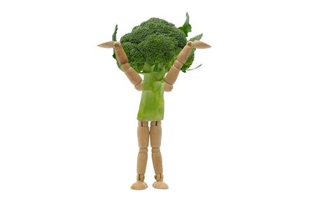 Illustration of Human vegetable Broccoli on isolated white background.