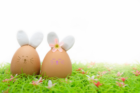 Easter eggs is a happy festival, Choose focus point with copy space to write. Stock Photo