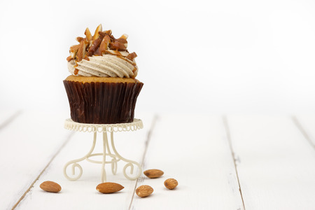 Cupcakes are beautifully decorated in clear lighting Stock Photo