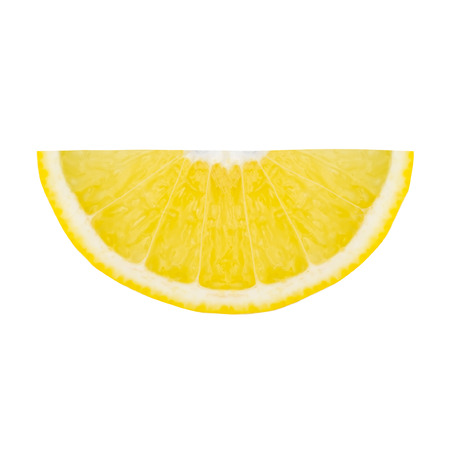Lemon slices pattern isolated on white background.