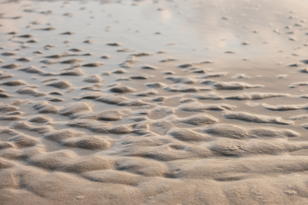 Wet sand beach texture for background. Stock Photo