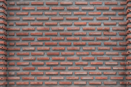 Grunge red or orange brick wall for background. Stock Photo