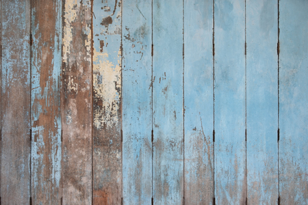 Rustic Old blue wooden background. wood planks.