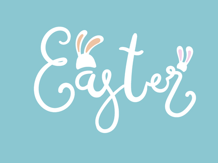 Hand sketched Easter text, Seasons Greetings. Reklamní fotografie