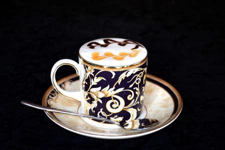 marge: Caffe macchiato caramel Stock Photo