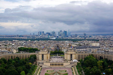 eye traveller: Aerial view of Paris cityscape