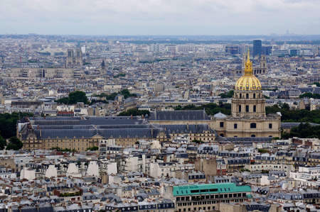 Aerial view of Paris cityscape photo