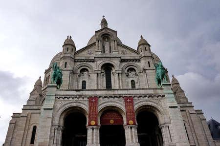 coeur: France Sacre Coeur building Editorial