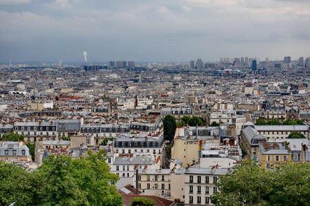 Overlooking Paris cityscape photo
