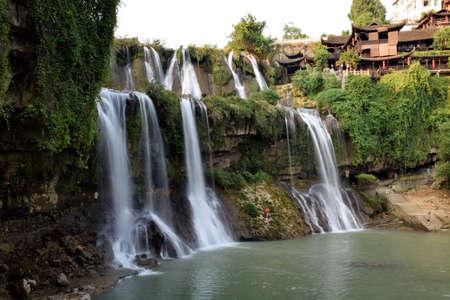 wang: Hibiscus Town Wang pueblo Falls