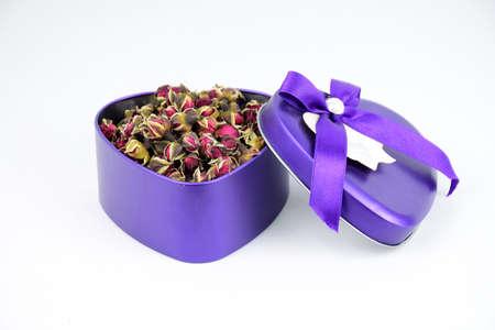 larger: Heart-shaped gift box Stock Photo