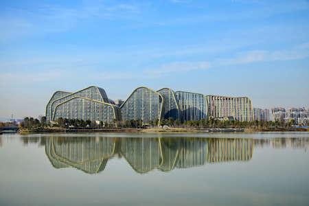 plaza: White Horse Lake Jianguo Hotel Plaza animation Editorial