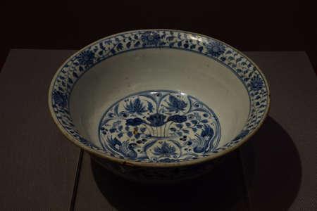 Zheng He era of blue-yuan charge Bowl Editorial
