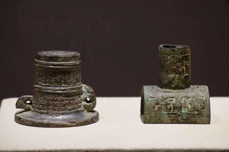 wei: Spring motifs bronze car Wei