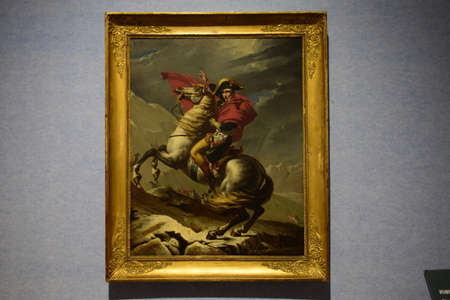 portraiture: Painting of Napoleon in the exhibition at Nanjing Museum Editorial