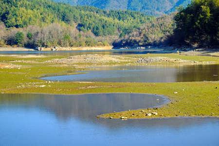 shu: Qishu reservoir at Anhui, Huizhou Stock Photo