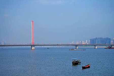 xing: Qianjiangsanqiao West Bridge in Hangzhou Stock Photo