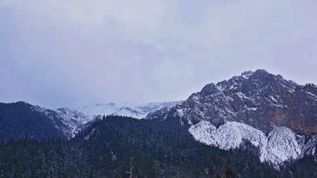 sierra snow: Jiuzhaigou snow mountain view