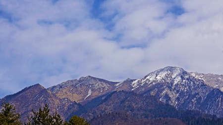 sierra snow: View of Jiu Zhai Gou snow mountain