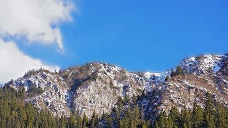 sierra snow: Aerial view of snow mountain