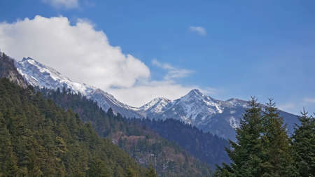 sierra snow: Jiuzhaigou snow