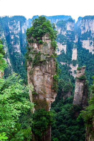 hallelujah: Hallelujah Mountain at Zhangjiajie, China Stock Photo