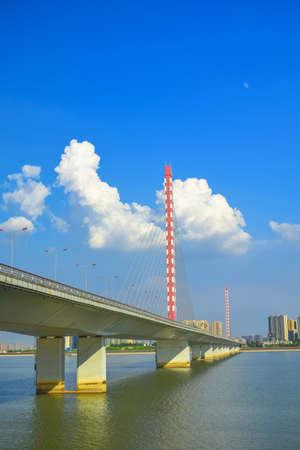 xing: Bridge view at Qianjiang Road, Hangzhou