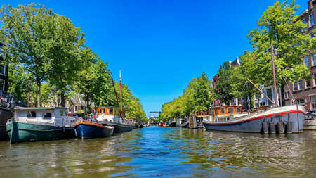 waterway: Amsterdam Canal Editorial