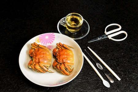 aquatic products: Lake crabs  Stock Photo