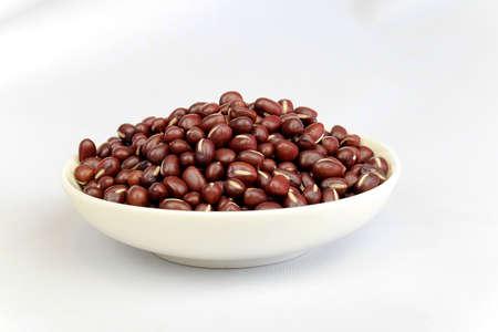 adzuki bean: Adzuki bean in a white bowl