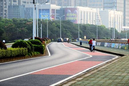 urban road: asphalt road Editorial