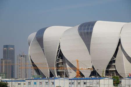 deportes olimpicos: Centro deportivo olímpico de la construcción de Hangzhou Editorial