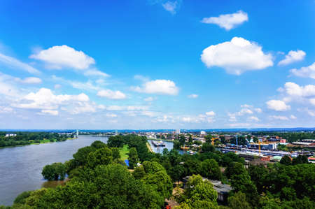 imagery: Overhead imagery of the Rhine scenery Stock Photo