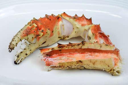 crab legs: King crab legs Stock Photo