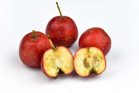 fruitage: Fresh Hawthorn close-up