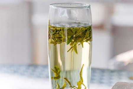 tea set:  green tea
