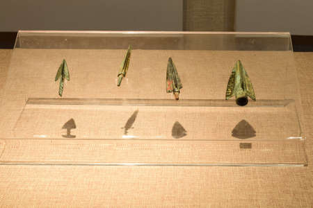 cultural artifacts: Spring and autumn winged bronze arrowheads