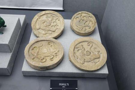 eaves: Four pattern eaves tile