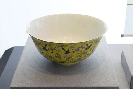 cultural artifacts: Magpie plum blossom pattern Bowl