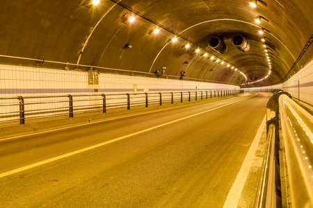tunnel view: View of an empty tunnel
